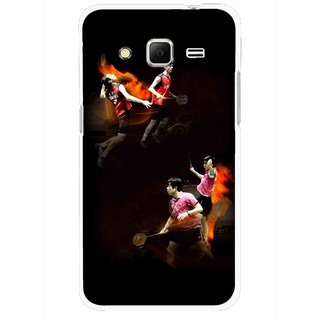 Snooky Printed Sports Player Mobile Back Cover For Samsung Galaxy Core Prime - Multicolour
