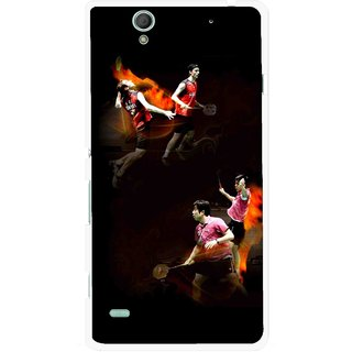 Snooky Printed Sports Player Mobile Back Cover For Sony Xperia C4 - Multicolour