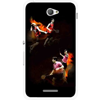 Snooky Printed Sports Player Mobile Back Cover For Sony Xperia E4 - Multicolour