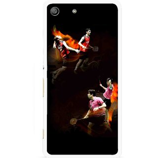 Snooky Printed Sports Player Mobile Back Cover For Sony Xperia M5 - Multicolour