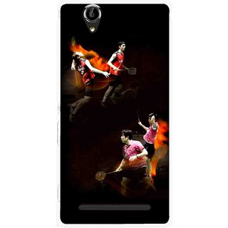 Snooky Printed Sports Player Mobile Back Cover For Sony Xperia T2 Ultra - Multicolour