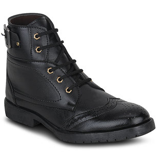 Kielz-Mens-Black-Casual-Boots