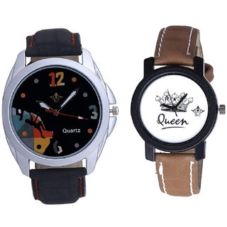 Goal Achived Art And Queen Taj Design Dial Couple Casual Analogue Wrist Watch By Google Hub