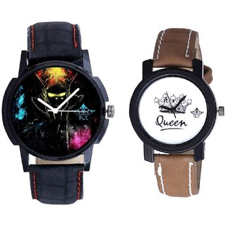 Elegant 3D Designer And Queen Taj Design Dial Couple Casual Analogue Wrist Watch By Google Hub