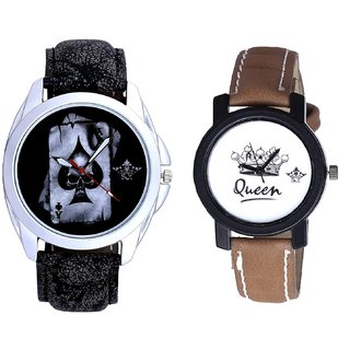Life Race Akka And Queen Taj Design Dial Couple Casual Analogue Wrist Watch By Google Hub