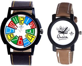 Exclusive Multi Colour And Queen Taj Design Dial Couple