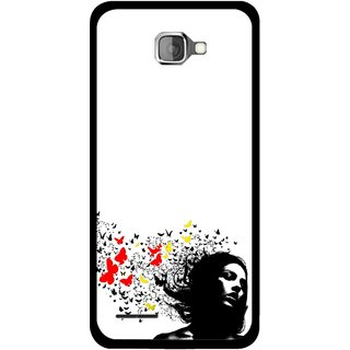 Snooky Printed Butterfly Girl Mobile Back Cover For Micromax Canvas Mad A94 - Multicolour