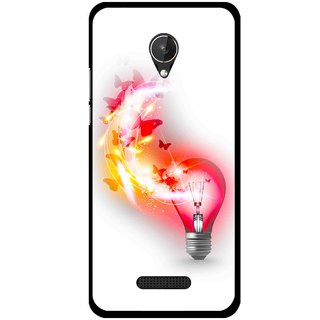 Snooky Printed Butterly Bulb Mobile Back Cover For Micromax Canvas Spark Q380 - Multicolour