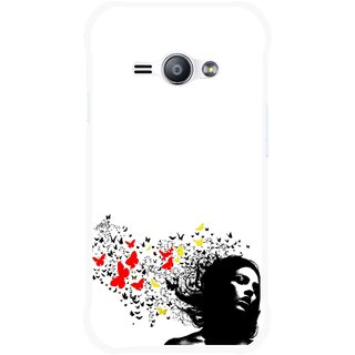 Snooky Printed Butterfly Girl Mobile Back Cover For Samsung Galaxy Ace J1 - Multicolour