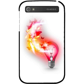 Snooky Printed Butterly Bulb Mobile Back Cover For Blackberry Classic - Multicolour
