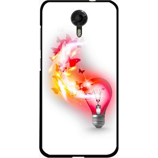 Snooky Printed Butterly Bulb Mobile Back Cover For Micromax Canvas Xpress 2 E313 - Multicolour