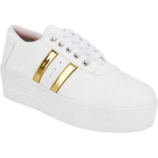 Clymb Zapo White Sneakers For Womens In Various Sizes