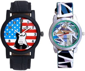 Exclusive USA Design And Multi Colour Sky Blue Couple C