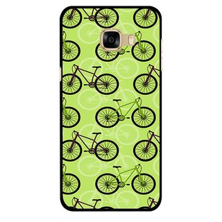 Snooky Printed Cycle Mobile Back Cover For Samsung Galaxy C7 - Multicolour