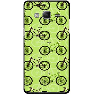 Snooky Printed Cycle Mobile Back Cover For Samsung Tizen Z3 - Multicolour