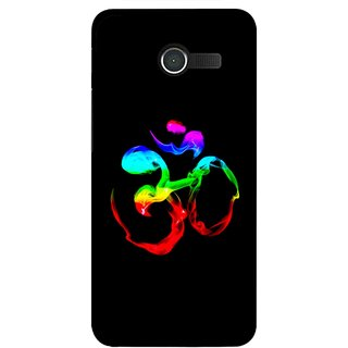 Snooky Printed Om Mobile Back Cover For Asus Zenfone 4 - Multicolour