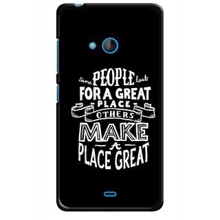 Snooky Printed Personality Attitude Mobile Back Cover For Nokia Lumia 540 - Multicolour