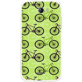 Snooky Printed Cycle Mobile Back Cover For Micromax Bolt A068 - Multicolour