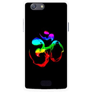 Snooky Printed Om Mobile Back Cover For Oppo Neo 5 - Multicolour