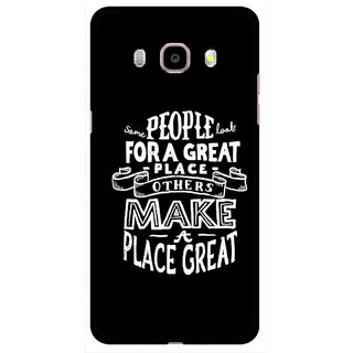 Snooky Printed Personality Attitude Mobile Back Cover For Samsung Galaxy J5 (2016) - Multicolour