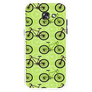 Snooky Printed Cycle Mobile Back Cover For Samsung Galaxy A7 (2017) - Multicolour
