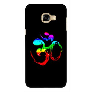 Snooky Printed Om Mobile Back Cover For Samsung Galaxy C7 - Multicolour