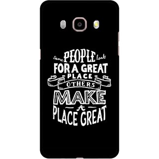 Snooky Printed Personality Attitude Mobile Back Cover For Samsung Galaxy J7 (2016) - Multicolour