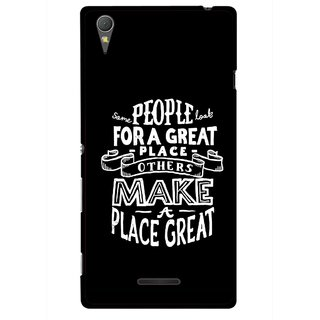 Snooky Printed Personality Attitude Mobile Back Cover For Sony Xperia T3 - Multicolour