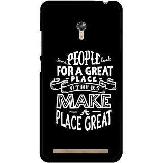 Snooky Printed Personality Attitude Mobile Back Cover For Asus Zenfone 6 - Multicolour