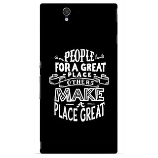 Snooky Printed Personality Attitude Mobile Back Cover For Sony Xperia Z - Multicolour