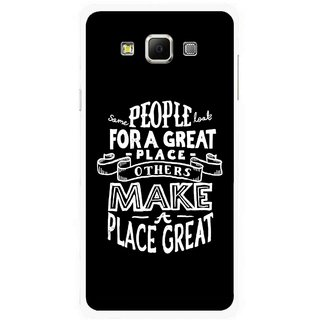 Snooky Printed Personality Attitude Mobile Back Cover For Samsung Galaxy E7 - Multicolour
