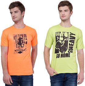 kristof Men's Multicolor Round Neck T-Shirt