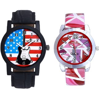 Exclusive USA Design And Multi Pink Colour Couple Casual Analogue Wrist Watch By VB INTERNATIONAL