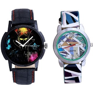 Elegant 3D Designer And Multi Colour Sky Blue Couple Casual Analogue Wrist Watch By VB INTERNATIONAL