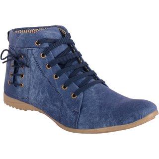 Aaiken Men's Blue Lace-Up Boots