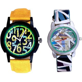 Awesome Exclusive Digits And Multi Colour Sky Blue Couple Casual Analogue Wrist Watch By VB INTERNATIONAL
