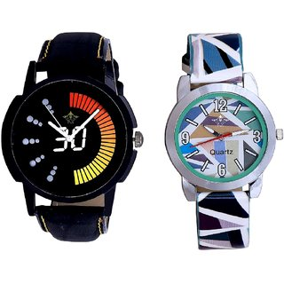 Attractive Race Dial And Multi Colour Sky Blue Couple Casual Analogue Wrist Watch By VB INTERNATIONAL