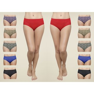 THE BLAZZE KITHAR LAIDES WOMENS GIRLS COTTON PRINTED PANTIES - HIPSTERS PACK OF 10