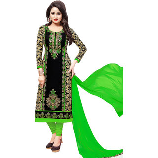 2c9cb09d79 Buy Risera Women's Cotton Bollywood Embroidered Unstitched Salwar Suit Dress  Material (Black) Online @ ₹999 from ShopClues