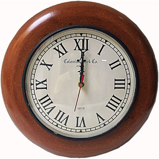a80442517ff Buy Wooden Wall Clock Quiet Sweep Second Hand Dark Brown Solid Oak Case  Online   ₹1244 from ShopClues