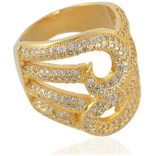 Sanaa Creations Gold Plated Alloy Ring for Women and Girls