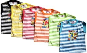6 Piece Summer Cotton Seeveless T-shirt for 6 months to 2 Years