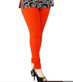 Ankle Length Churidhar Orange Legging (Pack of 1)