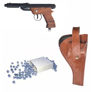 Jay Antiques Air Gun Ew-007 Model With Metal Body For Target Practice Combo Offer 300 Pellets With Cover  Air Gun