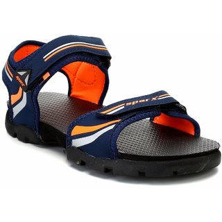 9dfc6c160e8 Buy Sparx Men SS-118 Navy Blue Fluorescent Orange Sandals Online   ₹675  from ShopClues