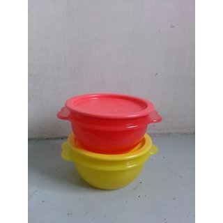 Tupperware food container star bowl (set of 2)