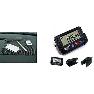DLT Combo Car Non Slip Mat+ Digital Alarm Clock