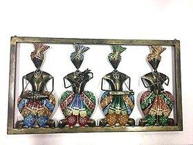 Dhoti musicians with colorfull safa wall frame