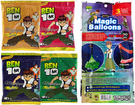 Ben 10 Holi Magic Balloon Bunch 111 Pc Auto fill (3 sets of 37 balloons)  With 4 Ben 10 Gulal