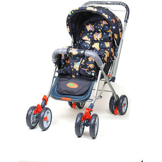 dealBindaas Pram Stroller Foldable Assorted Colour